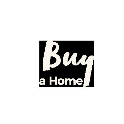 Buy a home beige cursive text
