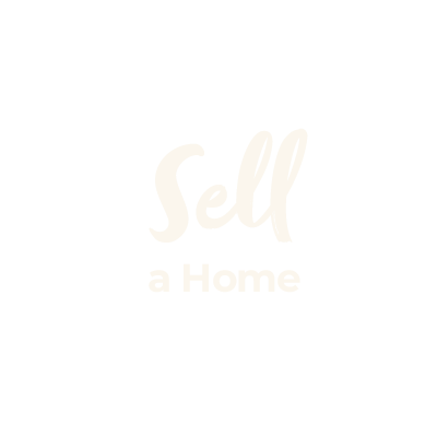 Sell a home beige cursive text